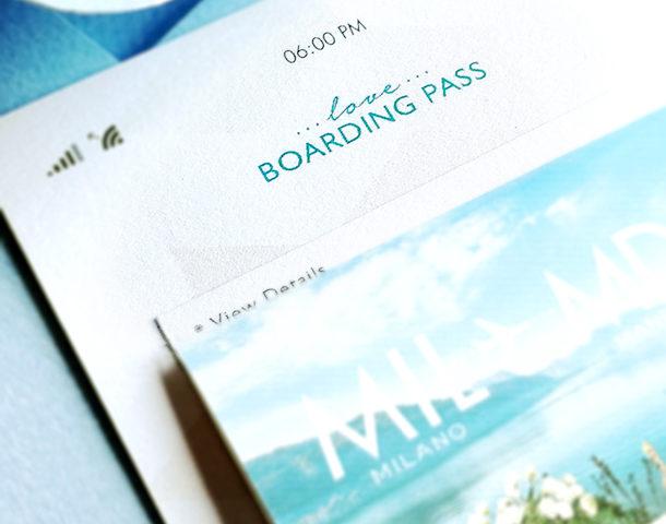 invito di matrimonioboarding pass