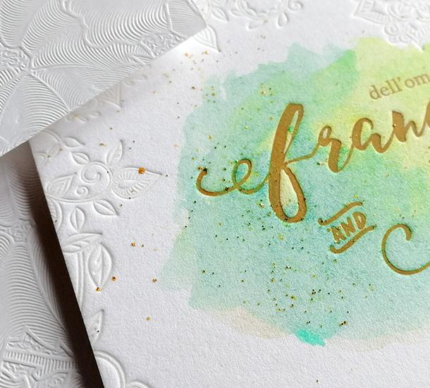 invito di matrimonio watercolor